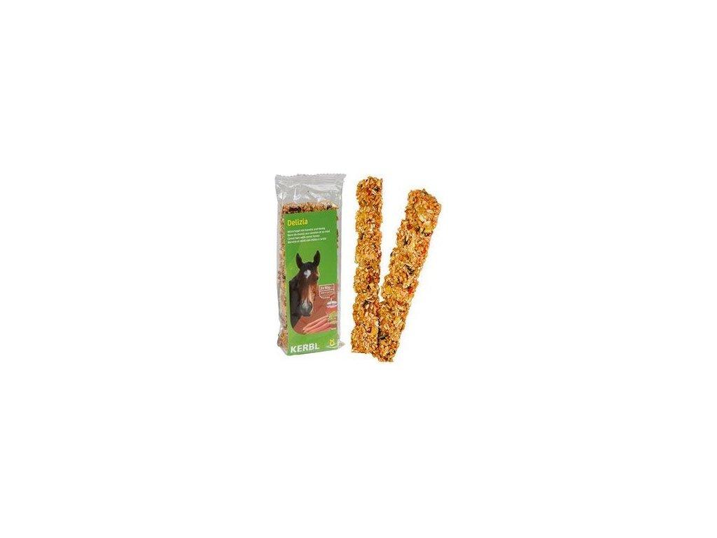 Delizia Müsli tyčinka pro koně mrkev med 2 x 50 g