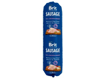 brit dog sausage chicken rabbit