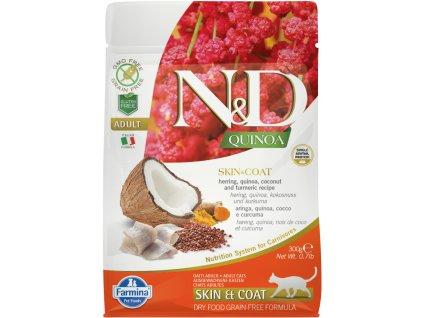 nd gf cat adult quinoa, herring coconut