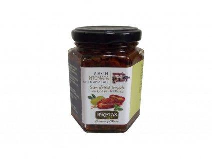 sušená rajčata s olivami a kapary