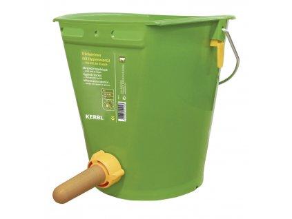 Kbelík zelený 8l s hygienickým ventilem