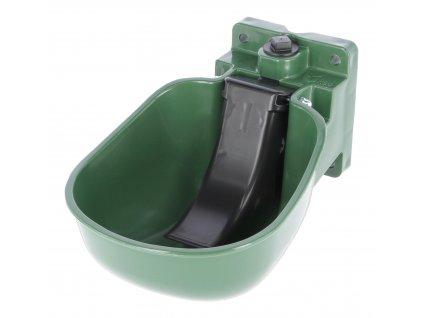 Napaječka plastová s plastovým jazykem K50, olivová