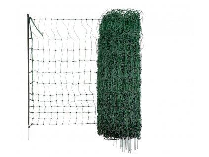 Ohradníková síť pro drůbež PoultryNet zelená neelektrifikovatelná 106cm/50m/jednoduchý hrot