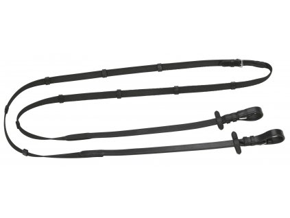 Pryžové otěže Antislip, černé, 20mm