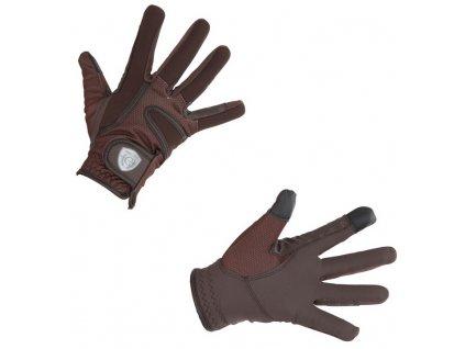 Zimní jezdecké rukavice Covalliero VIOLA, hnědá, XS