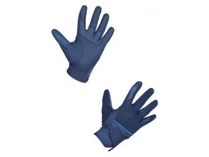 Jezdecké rukavice Neapel, tmavě modrá, vel.