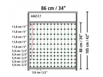 Dveře pro elektrické ohradníkové sítě, do 90 cm