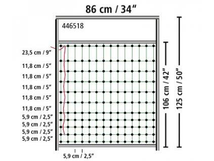 Dveře pro elektrické ohradníkové sítě, 95 - 125 cm