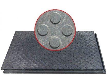 Stájové gumy zámkové 115 x 75 x 4 cm