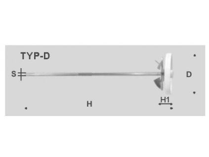 Víceúčelové míchadlo, typ D - ploché