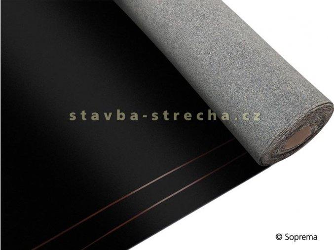 Asfaltový pás hydroizolační, natavitelný i k mechanickému kotvení, modifikovaný SBS, vyztužený skelnou tkaninou, tl. 4 mm, -15°C, 1 x 8 m, MAMUT G200 S4