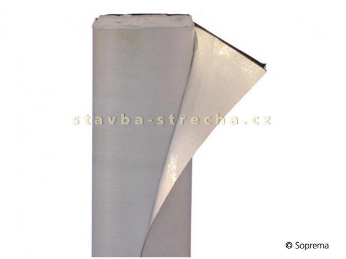 Asfaltový pás parotěsný samolepicí na trapézový plech, elastomerický, vyztužený hliníkovou fólií, tl. 0,25 mm, -25°C, 1,08 x 50 m, SOPRAVAP STICK ALU FR 108