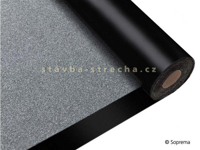 Asfaltový pás hydroizolační, natavitelný, modifikovaný SBS, vyztužený PES, s břidličným posypem, tl. 5,2 mm, -25°C, 1 x 7 m, SOPRALENE 250 S5 W