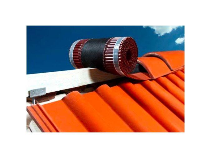 VARIO ROLL FOL, samolepící větrací pás hřebene a nároží / rozměr 300 mm x 5 m, (Barva Červená)
