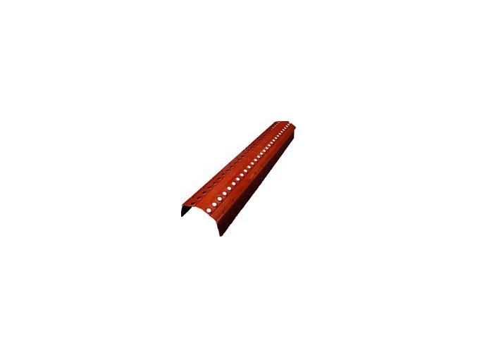 VĚTRACÍ PÁS HŘEBENE A NÁROŽÍ KARTÁČ, rozměr 18 x 103 cm, výška břitu 70 mm (Barva Hnědá)