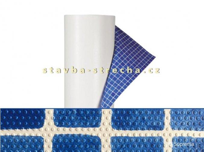 Bazénová PVC fólie, potištěná s lakovaným povrchem, protiskluzová, SOPREMAPOOL DESIGN GRIP