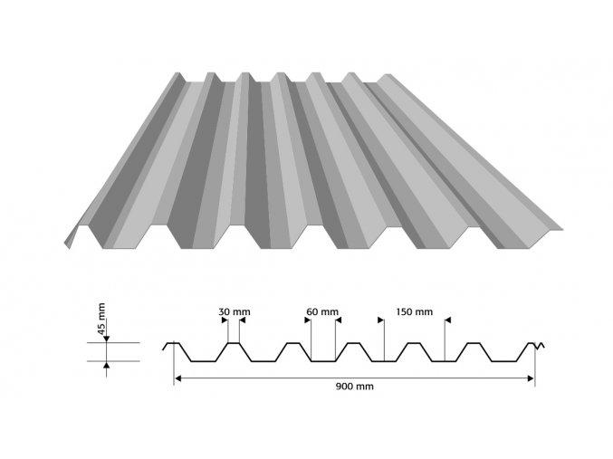 trapezovy plech tp45