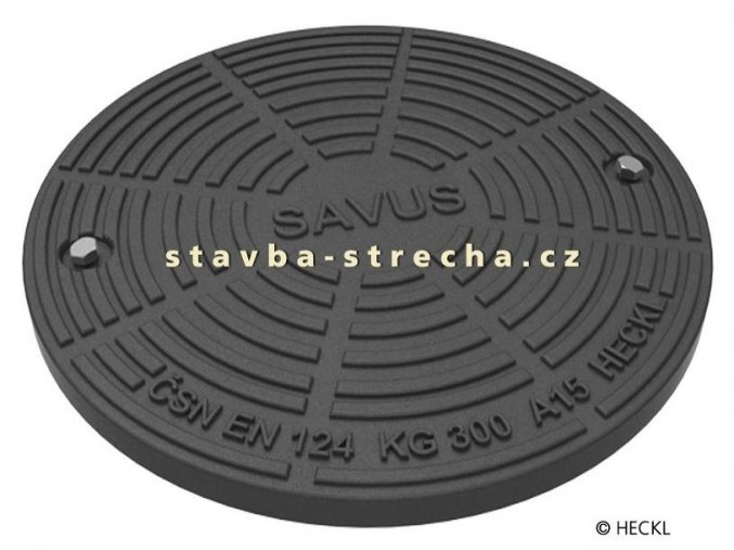 Kanalizační poklop kruhový litinový, SAVUS