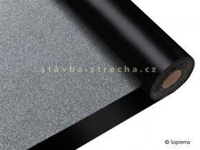 Asfaltový pás hydroizolační, natavitelný, modifikovaný SBS, vyztužený PES, s břidličným posypem, tl. 3,8 mm, -25°C, 1 x 8 m, SOPRALENE FLAM 180 AR