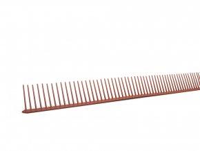 Ochranná větrací mřížka jednoduchá (hřebínek), rozměr 55 mm x 1 m (Barva Černá)