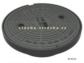 Kanalizační poklop kruhový litinový, vč. rámu, LIGARA