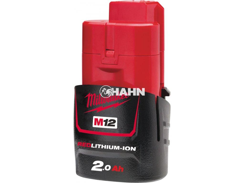 MILWAUKEE Baterie M12B2 - 12 V / 2,0 Ah - Li-Ion