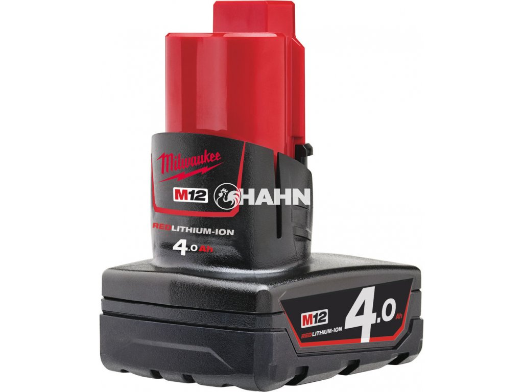 MILWAUKEE Baterie M12B4 - 12 V / 4,0 Ah - Li-Ion