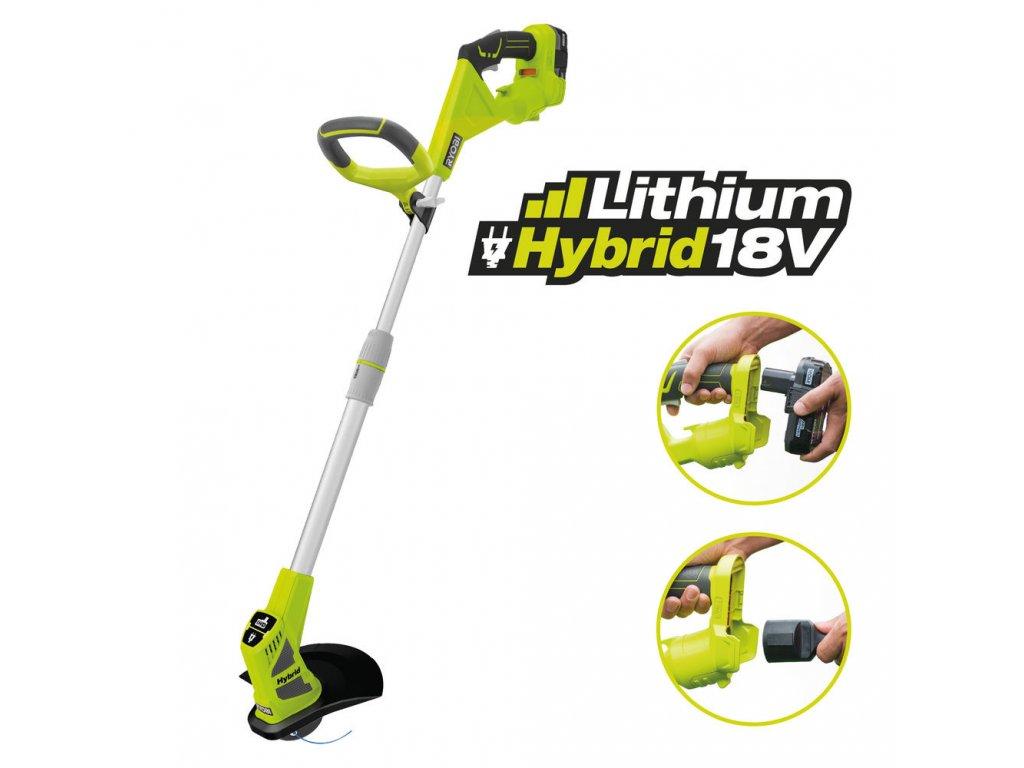 RYOBI Hybridní (elektrický/aku) vyžínač RLT1830H13
