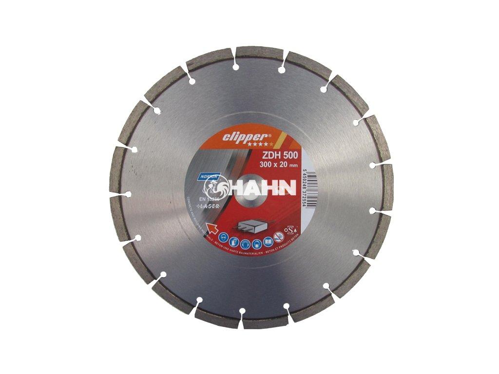 Diamantový kotouč ZDH 500 průměr 600mm (pro kamenické stolní pily a řezače spár)