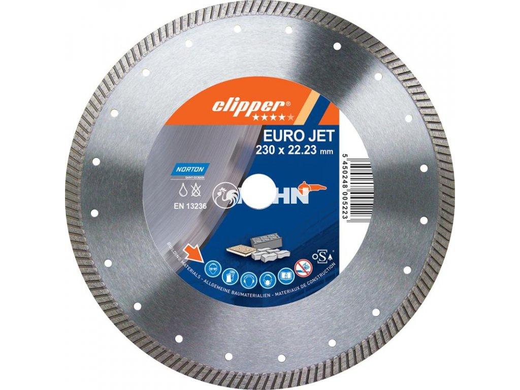 Diamantový kotouč EURO JET průměr 125mm (pro úhlové brusky)