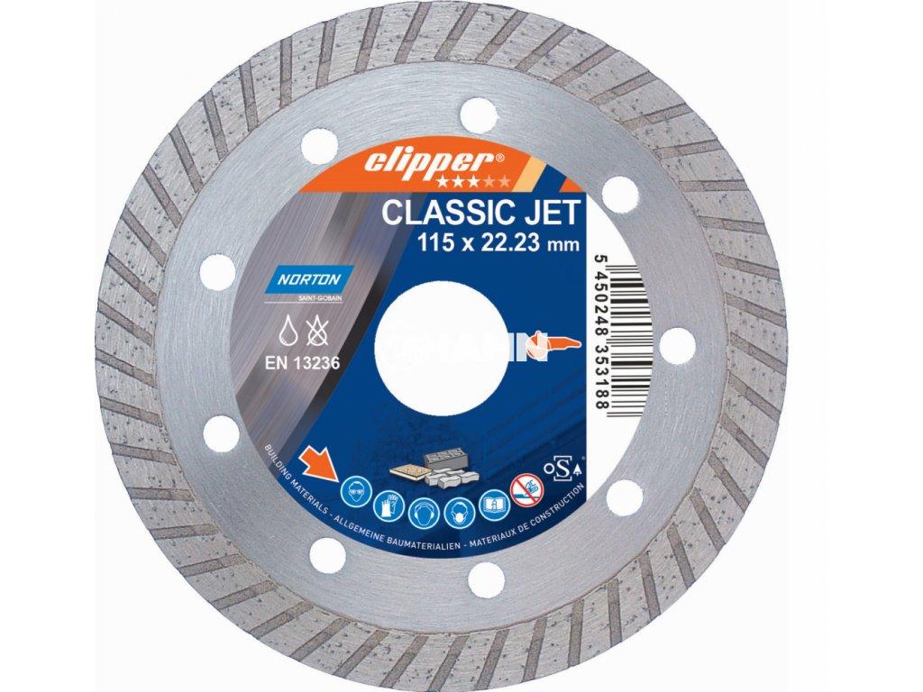 Diamantový kotouč CLASSIC JET průměr 115mm (pro úhlové brusky)