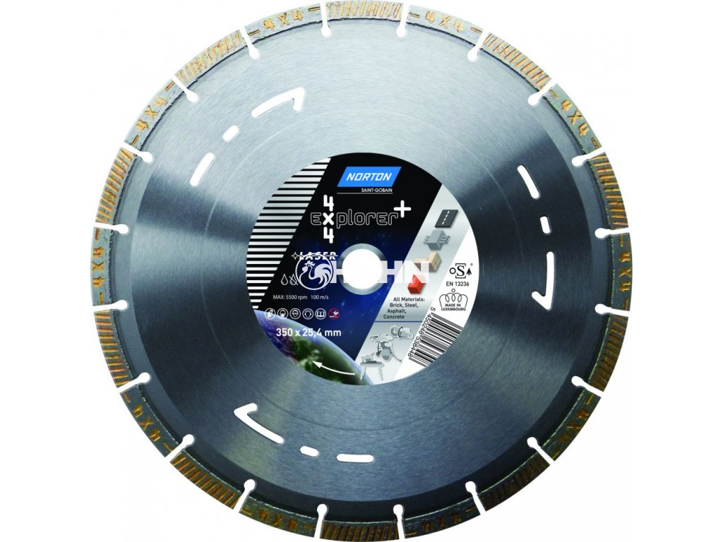 Diamantový kotouč 4x4 EXPLORER průměr 125mm (pro úhlové brusky)