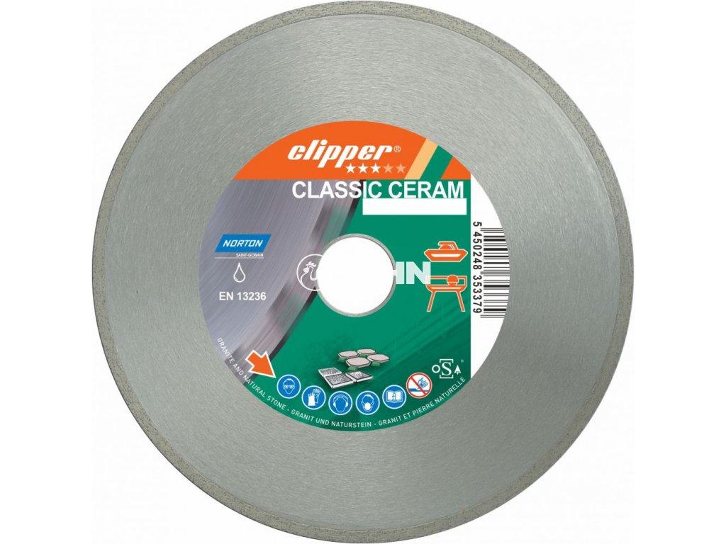 Diamantový kotouč CLASSIC CERAM průměr 125mm (pro úhlové brusky)