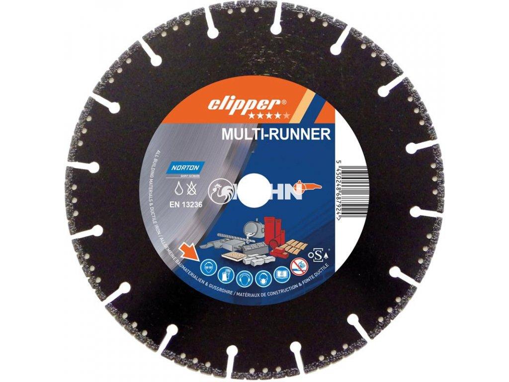Diamantový kotouč MULTI - RUNNER průměr 230mm (pro úhlové brusky)