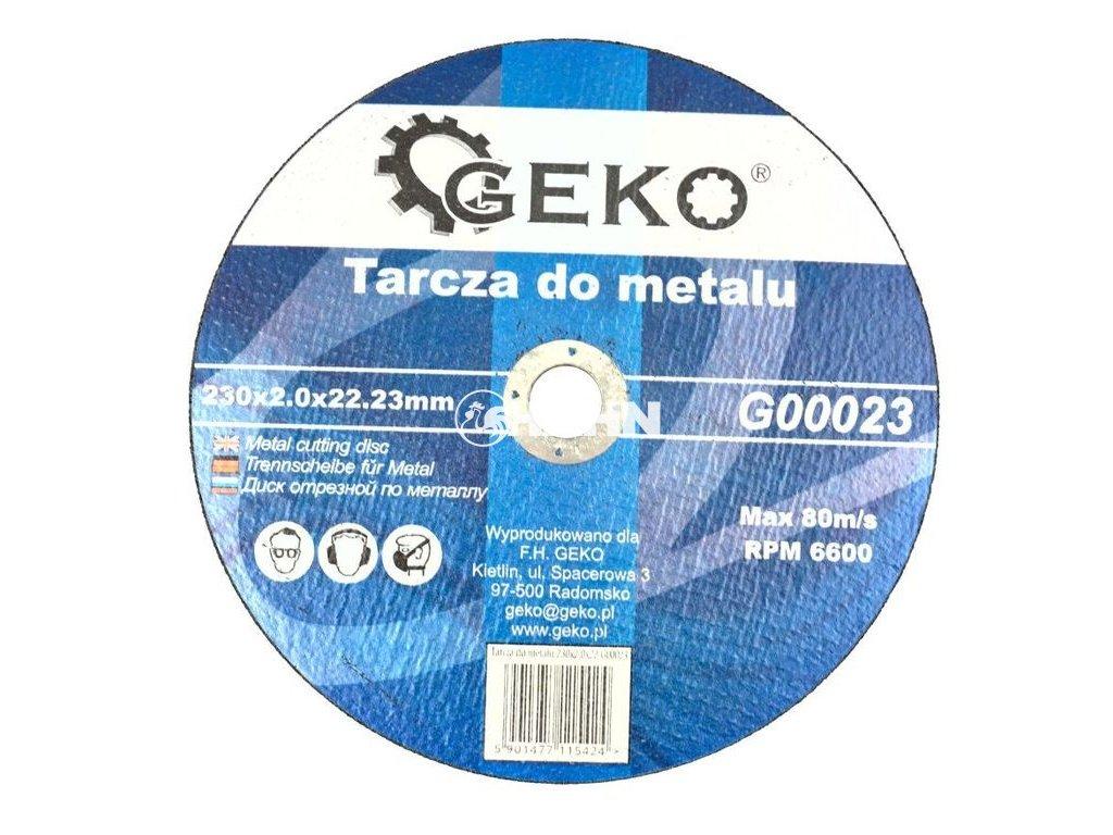 Řezný kotouč na ocel, 230x2,0mm, GEKO