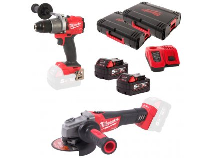 MILWAUKEE 2-dílný set M18BDD + HD18AG-125