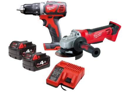 MILWAUKEE 2-dílný set M18BPD + HD18AG-125