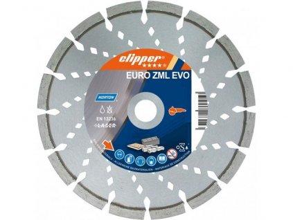 Diamantový kotouč EURO ZML EVO průměr 230mm (pro ruční a kamenické pily)  + +  pro REGISTROVANÉ NOVĚ 3% dolů!