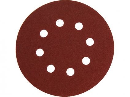 Papír brusný výsek, suchý zip, bal. 10ks, 150mm, P120, 8 otvorů EXTOL PREMIUM