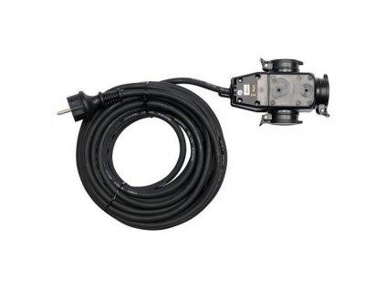 Prodlužovací kabel s gumovou izolací, 10m, 3 zásuvky, YATO