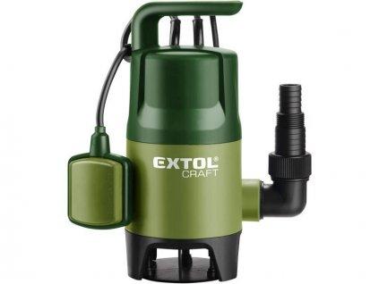 Čerpadlo na znečištěnou vodu, 400W, 7500l/hod, 10m, EXTOL CRAFT  + +  pro REGISTROVANÉ NOVĚ 3% dolů!