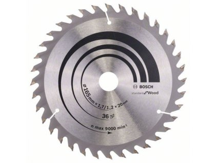 Pilový kotouč Optiline Wood - 165 x 20/16 x 1,7 mm, 36 - 3165140660273 BOSCH