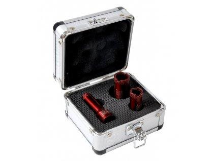 Diamantové korunkové vrtáky, sada 3ks, 16,20,25mm, kufr, BASS  + +  pro REGISTROVANÉ NOVĚ 3% dolů!