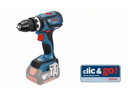 Aku příklepová vrtačka 2x5,0Ah Bosch GSB 18 V-EC Professional, 06019E9104