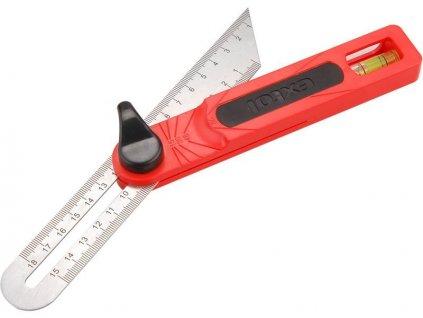 Pokosník nastavitelný nerez, předznačené úhly: 15-30-45-60°, EXTOL PREMIUM