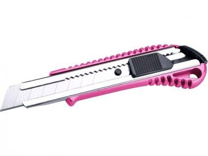 Nůž ulamovací kovový s kovovou výztuhou, 18mm, EXTOL LADY