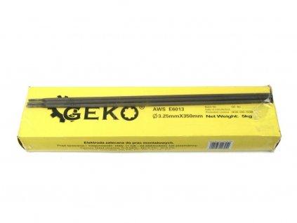 Elektrody svařovací, 3,25x350 mm, svařovací proud 90-130A, růžové GEKO
