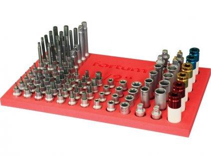 """Zásobník nástrčných a zástrčných klíčů 1/2"""", 86ks, naplněný, FORTUM"""