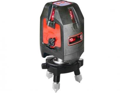 """Laser liniový, křížový samonivelační, přesnost 1,5mm/5m, závit 1/4"""" a 5/8, FORTUM"""