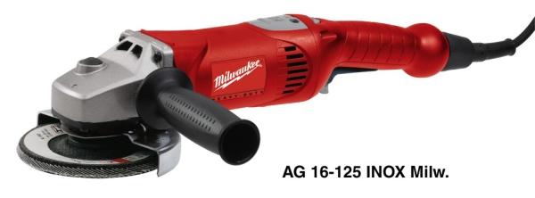 MILWAUKEE Úhlová bruska AG 16-125 INOX